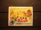 TIMBRE NEUF TUNISIE - FESTIVAL DU SAHARA - RACHIDA MANAI - 1984 - HARRISON & SONS LTD - 20m -TUNISIA Camel Chameau - Tunisie (1956-...)