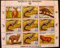 PARAGUAY: Feuillet Animaux En Voie D'extinction  ( Yvert 2100 X 5 ) - Timbres