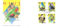 2000 NIUE BIRDS FDC FIRST DAY COVER - PRISTINE - Oiseaux