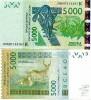 West African States 5000 Francs P-717K 2003 (2009) UNC - Sénégal