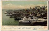 The Wharves From Brooklyn Bridge New York. Detroit Photographic Copyright 1901 - Ships