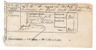EURE  /  Subvention De La CAISSE D´EPARGNE D´ EVREUX à La Ville De VERNON  ( 300 F. En 1866 ) /  Timbre Fiscal Impérial - Fiscaux