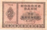 NORWAY 2 KRONER PINK MOTIF FRONT & BACK DATED 1948 P31b AVF READ DESCRIPTION !! - Norway