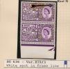 UK - Variety  SG 636 -Pair WHITE SPOT In  FRAME LINE  -  Row 19 Stamp 3 - MNH - Errors, Freaks & Oddities (EFOs