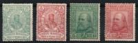 ITALIA REGNO 1910 GARIBALDI SERIE 4 V. MLH* CAT 300 € N° 87/90 (r. 5654) - 1900-44 Vittorio Emanuele III