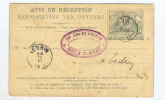 Entier AVIS DE RECEPTION - Chemins De Fer De L´Etat Belge - Cachets MARLOIE 1914 Vers VEDRIN  --  B8/388 - Stamped Stationery
