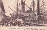 SS VIctroria Leaving For Nome, Wharf Scene, Seattle, Washington, PU-1907 - Seattle