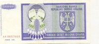 REPUBLIKA SRPSKA KRAJINA - 10000000 DIN - 1993. - Croatia