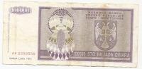 REPUBLIKA SRPSKA - 100000 DIN - 1993. - Bosnia Erzegovina