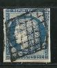 """YT 4 """" Cérès 25c. Bleu """" 1850 Oblitéré - 1849-1850 Ceres"""