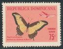 DOMINICAN REPUBLIC 1966 BUTTERFLIES HIGH VALUE SINGLE VF MINT NH SCARCE - Dominican Republic