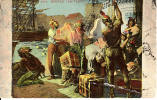 Boston Tea Party # 224 - Travelled 1913 - Stamp & Postmark - Mason Bros. - 2 Scans - Boston