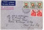 1943  Luftpostbrief Nach USA   ZUM 163y X 3!!!    Front Only - Briefe U. Dokumente
