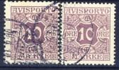 ##Denmark 1907-17. Postage Due. Michel 4X+Y. Cancelled(o) - Port Dû (Taxe)