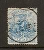 Belgique  1866-67  COB  24  (o)  Used   Cote: 110.00 - 1866-1867 Coat Of Arms