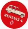 AUTOCOLLANT RENAULT 4 REF572 - Stickers