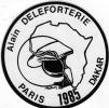 AUTOCOLLANT PARIS DAKAR 1985 ALAIN DELEFORTERIE REF607 - Adesivi