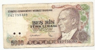5000 Lirasi - 1970 - Turkey