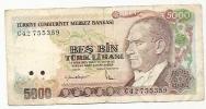 5000 Lirasi - 1970 - Turquie