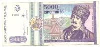 5000 Lei 1992 - Rumania