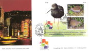 2001 NEW ZEALAND BIRDS FDC (HONG KONG M/S) FIRST DAY COVER - PRISTINE - Oiseaux