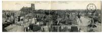 REIMS Panorama Des Ruines De         L'Etape Et La Place Drouet-d'Erlon. Carte Panoramique - Reims
