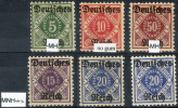 GERMANY Official - Mi.52-56 Compl. Set 52 MH, 53 MNG, 54, 55X And 55Y MNH, 56 MLH (all VF) - Oficial