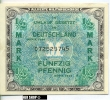 Deutschland Unter Alliierter Besetzung 1945-1948 Rosenberg 200a. 1/2 Mark 1944 - [ 5] Ocupación De Los Aliados