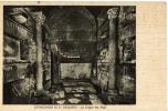 Postal, Catacumbas , Cripta Del Papi, S, Calixto, Italia,  Arqueología,, Post Card - Iglesias Y Catedrales