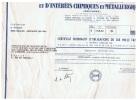 STE D´EXPLOITATIONS & D´INTERETS CHIMIQUES & METALLURGIQUES(SEICHIME) ( PECHINEY) - Industrie