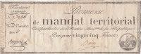 PROMESSE DE MANDAT TERRITORIAL  25 FRANCS - Assignate