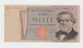 Italy 1000 Lire 1969 VF Banknote G. Verdi P 101a 101 A - 1000 Lire