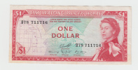 East Caribbean States 1 Dollar 1965 VF++ P 13f  13 F - Caraïbes Orientales