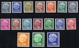 1957  Série «Heuss» Avec Indication De Monnaie  Mi Nr 409-428  ** MNH - Neufs