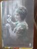 Carte De 1917 Avec Une Femme / Dois Je Demander à La Blanche Fleur, Si Vous M'aimez Bien De Tout Votre Coeur? - Femmes