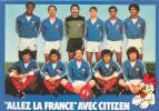"""18139 Allez La France"""" Avec Citizen Mundial 1982 Platini, Girest ... Bijouterie 3 Soleils Rennes (35)"""
