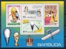 BARBUDA  Mi.Nr. Block  39 Fußball-Flugzeug Heißluftballon -MNH - Antigua Und Barbuda (1981-...)