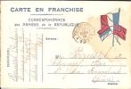 CPA Correspondance Des Armées De La République - Carte En Franchise - Modèle Stendhal. Secteur Postal N° 123. - Marcophilie (Lettres)