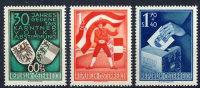 AUSTRIA 1950 Carinthian Plebiscite MNH.  Michel 952-54. - 1945-.... 2nd Republic