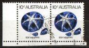 Australia 1973 Gemstones 10c Star Sapphire Pair Used  SG 552a - 1966-79 Elizabeth II