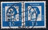 Bund 1961, Michel # 351 Y O  Waagerechtes Paar - BRD
