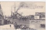 18161 SAINT NAZAIRE (44 France) Aspect  Nouvelle Entrée Port, Départ Cuirassé France. 1171 Delaveau-Joubier - Guerre