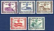 AUSTRIA 1955 Anniversary Of Republic Set Used.  Michel 1012-16 - 1945-.... 2nd Republic
