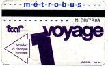 76 ROUEN ET AGGLO  TICKET TRANSPORT  1 VOYAGE VOIR SCANNER - Métro