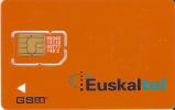 TARJETA DE ESPAÑA DE EUSKALTEL GSM-SIM  CON CHIP ORIGINAL (pegado Con Celo) - Spanien