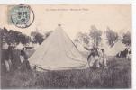 18192 Camp De CHALONs - 51 : Montage Des Tentes ! 76 Lib Militaire Guérin Mourmelon - - Manoeuvres