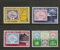 St Lucia 1972 Centenary Postal Service Set - St.Lucia (...-1978)