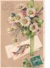 18203- 1er Avril Poisson Peche -offre Chair Exquise Surprise ! Fleur Marquerite -carte En Relief  AMBR