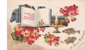 18204- 1er Avril Poisson Peche -l'amitie Vous L'envoie Bonheur Joie -carte En Relief  AOL 469 F