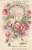 18205- 1er Avril Poisson Peche -recevez Joli Poisson Amitié Don -carte En Relief - Sans éd. Colombe Roses Doré